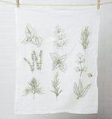 Herbs Tea Towel