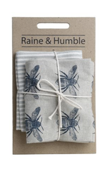 Honey Bee Tea Towels, set/2--CHOOSE COLOR