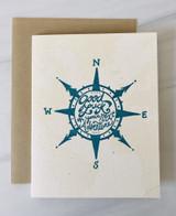 Good Luck Compass, Blank Greeting Card