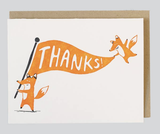 Foxy Thanks, Blank Greeting Card