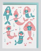 Hooray for Mermaid, Blank Greeting Card