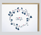 """My Heart is With You,"" Blank Greeting Card"
