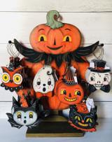 Pumpkin Friends Wooden Ornament—CHOOSE DESIGN