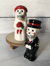 Day of the Dead Wedding Couple, Salt & Pepper Shakers, set/2