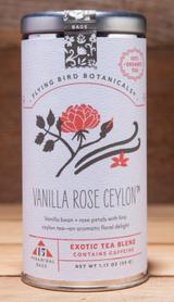 Flying Bird Botanicals: Vanilla Rose Ceylon, 6 or 15 bags