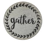 """""""Gather"""" Round Tin Sign"""
