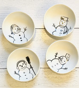 Sketched  Snowman Bowls--CHOOSE DESIGN