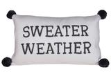"""""""Sweater Weather"""" Knit Lumbar Pillow"""