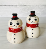 Snowman Pair Salt & Pepper Shakers, set/2