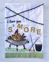 """Love You S'More"" Appliquéd Tea Towel"