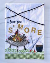 """Love You S'More"" Appliquéd Tea Towel"
