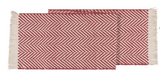 Harris Red&White Chevron Tablerunner