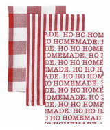 HO HO HOmemade Circa Christmas Towel Set, set/3