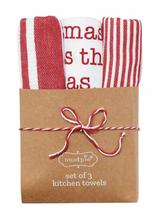 'Twas the Bite Before Christmas Circa Tea Towel, set/3