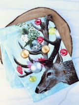Ornamental Deer Tea Towel