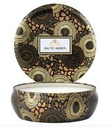 Voluspa Baltic Amber, 3-Wick Candle in Tin