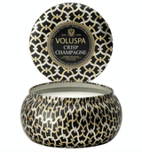 Voluspa Crisp Champagne, 2-Wick Maison Metallo Candle