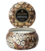 Voluspa Pomegranate Blood Orange, 2-Wick Maison Metallo Candle