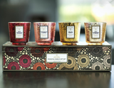 Voluspa Pedestal Candle Gift Set: Warm Tones