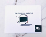 """Musubi My Valentine,"" Blank Greeting Card"