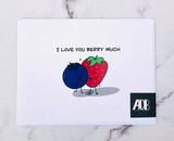 """Love You Berry Much,"" Blank Greeting Card"