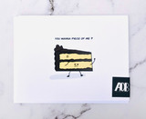 """""""Want a Piece of Me,"""" Blank Greeting Card"""