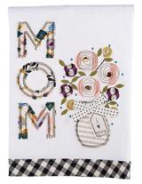 """Mom I Love You"" Embellished Tea Towel"