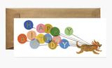 Birthday Balloon Dog, Rifle Paper Co. Blank Greeting Card
