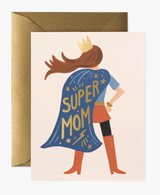 Super Mom (Red Hair, Red Boots), Rifle Paper Co. Blank Greeting Card