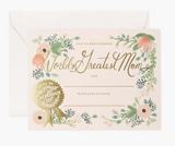 Greatest Mom Certificate, Rifle Paper Co. Blank Greeting Card