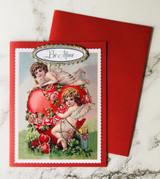 """""""Be Mine"""" Glittered Blank Greeting Card"""