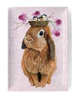 """Bubblegum Bunny Decorative Dish, 5""""x7"""""""