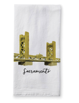 Sacramento Tower Bridge, Tea Towel