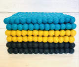 Felt Pom Pom Square Trivet--CHOOSE COLOR