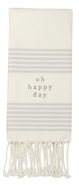 Grey & White Turkish Towel
