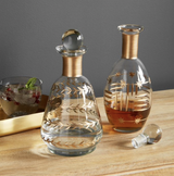 Gold & Glass Etched Decanter--CHOOSE DESIGN