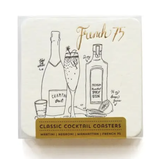 Classic Cocktails Letterpress Coasters, set/8