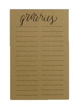 """Groceries"" Sticky Notepad--For Big Write-In Calendar"