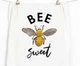 """Bee Sweet"" Honey Brush Design Tea Towel"