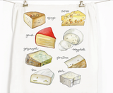 Cheeses Honey Brush Design Tea Towel