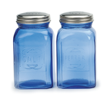 Retro Cobalt Blue Glass Salt & Pepper Shaker, set/2