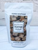 Dark Chocolate Gourmet English Toffee--CHOOSE SIZE