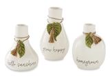 Leaf & Tassel Bud Vases