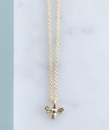 Bee Necklace, 16k Gold-Plated