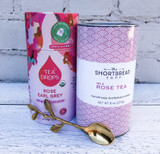Roses Gift Set II: Rose Tea Shortbread + Tea Drops Rose Early Grey + Gold Twig Spoon