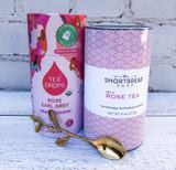 Roses Gift Set II: Rose Tea Shortbread + Tea Drops Rose Early Grey + Gold Twig Spoon