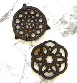 Round Cast Iron Trivet--CHOOSE DESIGN