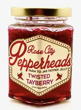Twisted Tayberry: Rose City Pepperheads Jelly, 12oz