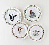 Farm Scalloped Plate, 4 designs