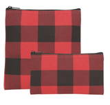 Buffalo Check, Reuseable Snack Bag, set/2